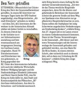 Badische Zeitung 04.08.2012 Beobachtet- Gehoert